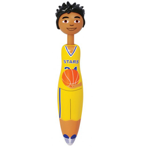 Basketball player shaped pen