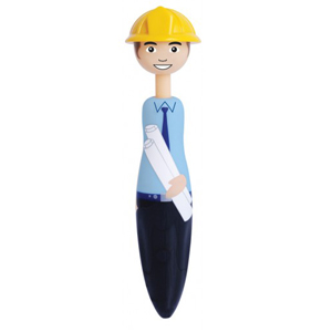 Builder or Architect shaped pen